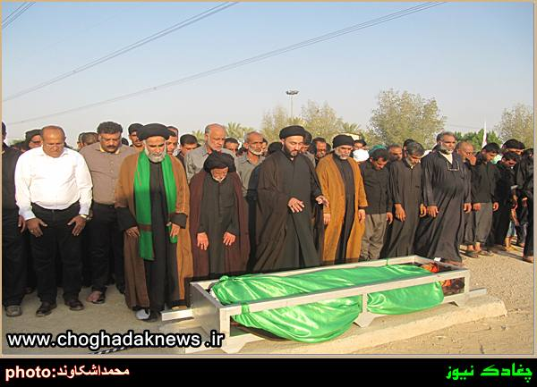 تصاویر تشییع پیکر سید هاشم موسوی در شهر چغادک