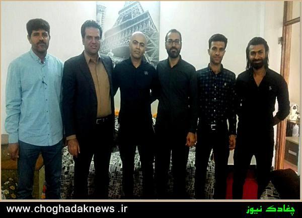 عیادت اعضای شورای اسلامی شهر از بنیانگذار پرورش اندام در چغادک+تصویر