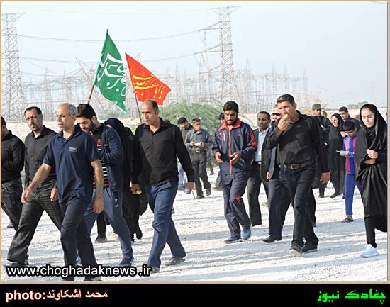 تصاویر پیاده روی و عزاداری روز شهادت امام رضا(ع) در چغادک