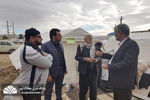 همدردی و بازدید دو عضو شورا بهمراه رئیس دفتر حامیان ولایت از مناطق زلزله زده+تصویر