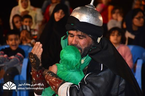 """نمایش آئینی """"دوباره سوز دل"""" در میدان تشریفات بوشهر"""