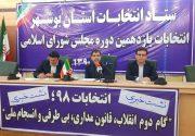 ۷۲۰ شعبه اخذ رای برای ۴ حوزه انتخابیه استان بوشهر تعیین شد