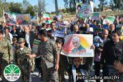 حضورپرشور مردم ومسئولین شهرجدید عالیشهر در راهپیمایی ۲۲ بهمن