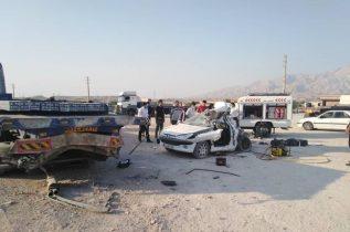 تصادف پژو با تریلر ۲ کشته و یک مصدوم بر جا گذاشت