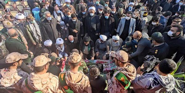 تشییع و تدفین پیکر شهید گمنام ۲۲ ساله در مجتمع سیدالشهدای آبعلی