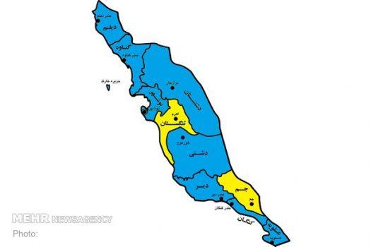 ۸۰ درصد شهرستانهای استان بوشهر در وضعیت «آبی» کرونایی هستند