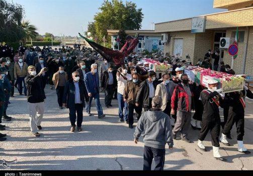 شهر بوشهر با ورود ۲ شهید گمنام معطر شد + تصاویر