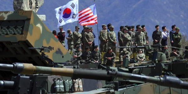رزمایش نظامی مشترک آمریکا و کره جنوبی روز دوشنبه آغاز میشود