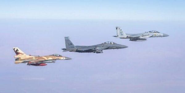 رزمایش هوایی رژیمصهیونیستی و آمریکا برگزار شد
