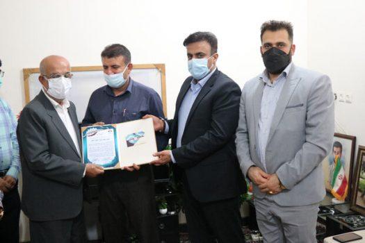 تجلیل از خانواده شهید رسانه استان بوشهر